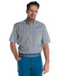 Campbell Casual Overhemd Met Korte Mouwen - Blauw
