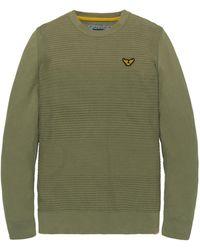 PME LEGEND Pkw201300 6149 Crewneck Cotton Knit Deep Lichen Green - Groen
