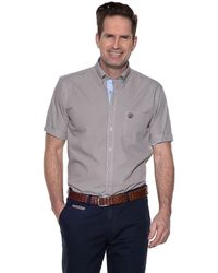 Campbell Casual Shirt Met Korte Mouwen - Naturel
