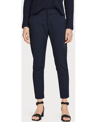 Maison Scotch 156367 Tailored Stretch Pants With Piping Details - Blauw