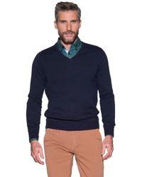 Campbell Pullover V-hals - Blauw