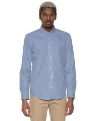 Scotch & Soda Casual Overhemd Met Lange Mouwen - Blauw