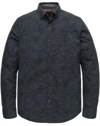PME LEGEND - Psi205226 5288 Long Sleeve Shirt Poplin Stretch All-over Print Blue - Lyst