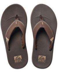 Reef Slipper Men Fanning Low Brown-schoenmaat 44 - Bruin