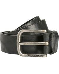 PME LEGEND Belt Leather Black - Zwart