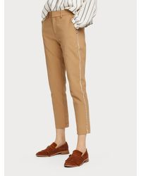 Maison Scotch 156367 Tailored Stretch Pants With Piping Details. - Bruin