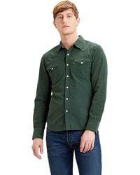 Levi's Barstow Western Slim Shirt Sycamore - Groen
