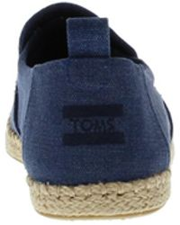 TOMS Washed Canvas Espadrilles - Blauw