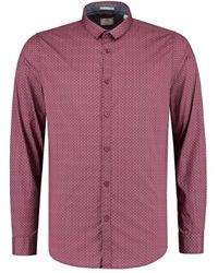 Dstrezzed Shirt Small Collar Minimal Dot Red - Rood