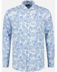 Dstrezzed Shirt Cut Away Collar Shadow 303330/625 - Blauw