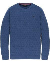Vanguard Pullover Ronde Hals Vkw198140-5030 - Blauw