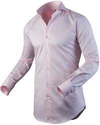 Circle Of Gentlemen Heren Overhemd Allan Cutaway Slim Fit - Roze