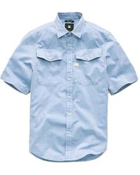 G-Star RAW Overhemden 125263 - Blauw