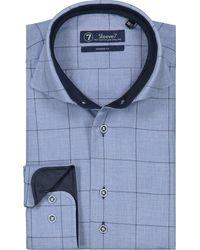 Sleeve7 Heren Overhemd Geruit Flannel - Blauw