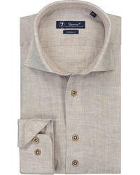 Sleeve7 Overhemd Linnen Chambray - Bruin