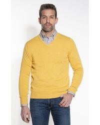 Campbell Pullover V-hals - Geel