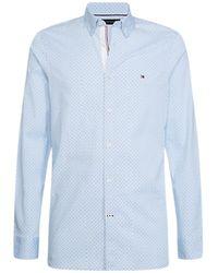 Tommy Hilfiger Overhemd Mw0mw12809 - Blauw