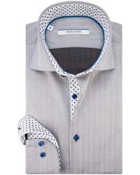The BLUEPRINT Trendy Overhemd Met Lange Mouwen - Grijs