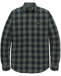 PME LEGEND - Psi205228 6026 Long Sleeve Shirt Twill Check Green - Lyst