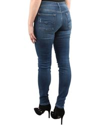 7 For All Mankind The Skinny Old Song Distressed - Blauw