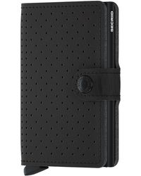 Secrid Miniwallet Perforated - Zwart