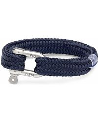 Pig & Hen P14-63000 Pig&hen Armband Gorgeous George | Navy | Silver - Blauw