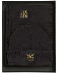 PME LEGEND Gift Box Beanie & Scarf Black Onyx - Zwart