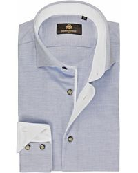 Circle Of Gentlemen Overhemd Buke Oxford Slim Fit - Blauw