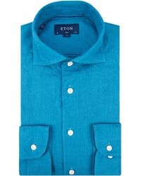 Eton of Sweden Overhemd Met Lange Mouwen - Blauw