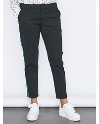 Maison Scotch 146697 19 Tailored Stretch Pants With A Contrast Side Panel Combo C - Groen