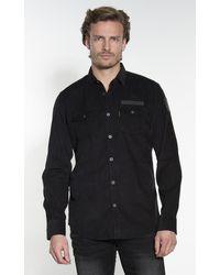 PME LEGEND Casual Overhemd Met Lange Mouwen - Zwart