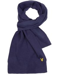 Lyle & Scott Knitted Accessoires Scarf - Blauw