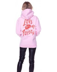 Colourful Rebel Love Poison Oversized Hoodie - Roze