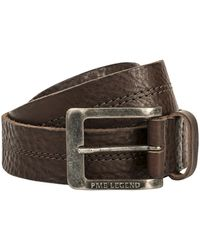 PME LEGEND Belt Leather Center Stich D.brown - Bruin