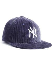 NEW ERA HATS Exclusive Corduroy Yankees Cap In Navy - Blue