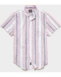 Todd Synder X Champion Italian Button Down Collar Short Sleeve Shirt - White