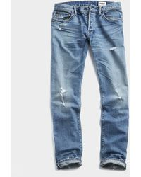 Todd Synder X Champion Slim Fit Japanese Stretch Selvedge Jean - Blue