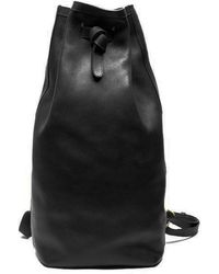 Lotuff Leather - Lotuff Black Leather Duffle Backpack - Lyst