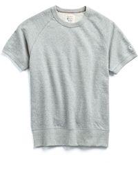 Todd Snyder - Short Sleeve Sweatshirt In Light Grey Mix - Lyst