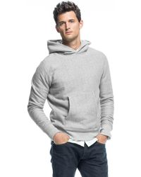 Todd Snyder - Popover Hoodie In Light Grey Mix - Lyst