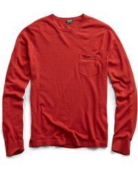d5eb10699c4 Sunspel Burnt Orange Cotton T-shirt in Orange for Men - Lyst