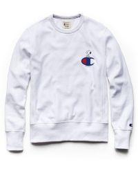 Todd Snyder - Champion X Peanuts Snoopy C Sweatshirt In White - Lyst