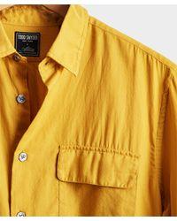 Todd Synder X Champion Lightweight Italian Military Shirt - Yellow