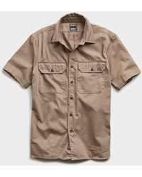 Todd Synder X Champion Italian Two Pocket Utility Short Sleeve Shirt - Natural