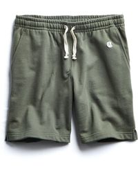 Todd Snyder - Terry Warm Up Short In Olive Grove - Lyst