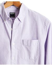 Todd Snyder - Japanese Selvedge Oxford Button Down Shirt In Lavender - Lyst