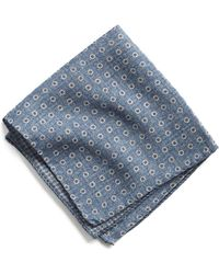 Todd Snyder - Italian Wool Pocket Square In Light Blue Circle - Lyst