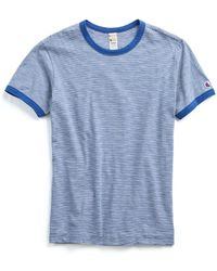 Todd Snyder - Champion Striped Tee In Admiral Blue - Lyst