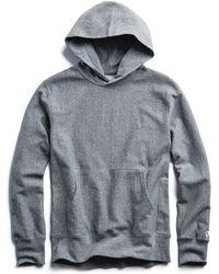 Todd Snyder - Terry Popover Hoodie Sweatshirt In Salt And Pepper - Lyst