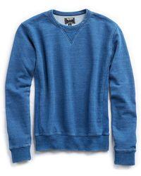 Todd Snyder - Bleached Indigo Crew Sweatshirt - Lyst